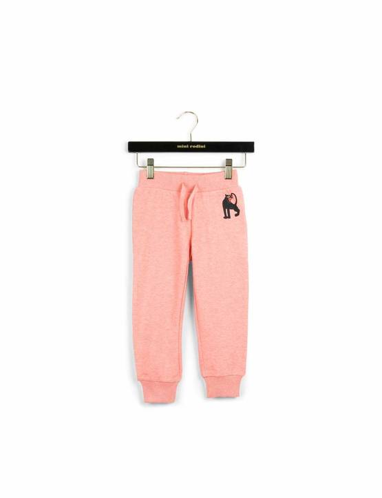 Panther sweatpants, pink melange - Housut - 1673015934 - 1