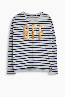 BFF sequins shirt, grey/dark blue -  - Espritrk10155 - 1
