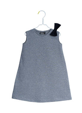 DAISY dress, grey melange -  - papuss17635 - 1