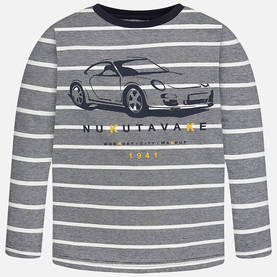 L/s stripes t-shirt, silver -  - 7C7013075 - 1