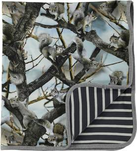 Niles blanket, Squirrels -  - 7W17W1015 - 1