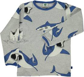 Shirt with sharks, grey -  - smafolka186 - 1