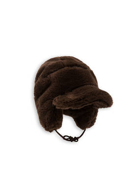 FAUX FUR CAP, brown -  - 1776511416 - 1