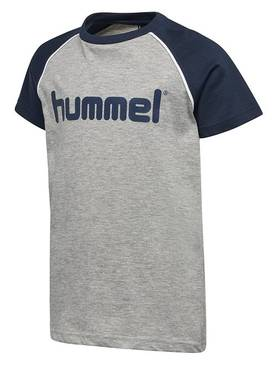 Julian T-shirt, grey melange -  - hummel2000296 - 1