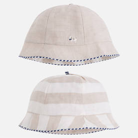 Reversible summer hat, nougat -  - ma1l973086 - 1