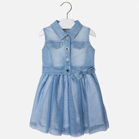Denim combo dress, lightblue -  - mayss1757 - 1