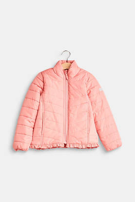 Lightweight quilted jacket, old pink -  - espritrm4200307 - 1