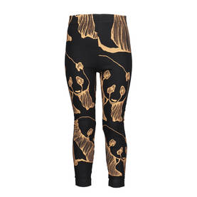 Panda Art leggings Adult, black/bronze -  - metsaw17 - 2