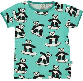 T-shirt w. panda on skateboard, cascade -  - smafolkss187 - 1