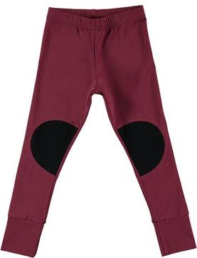 BURGUNDY PATCH leggings - - PAPUaw1628 - 1