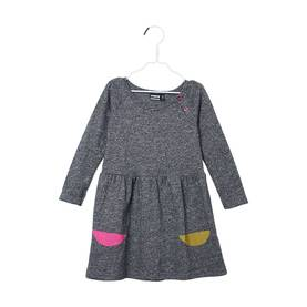 SNAP dress, fuzzy grey -  - papuaw17028 - 1
