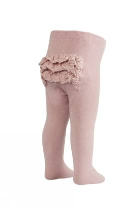 Tights with lace, old rose -  - mpaw17351188 - 1