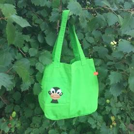 Monkey canvas bag, green -  - lipfishss17-9 - 1