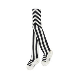 Snow Melange, Graphic Striped Tights -  - 7W17G209 - 1