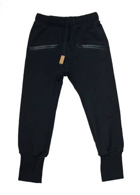 College zipper pants, black -  - metsolaAW17A - 1