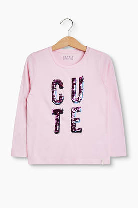 CUTE sequins shirt, marshmallow -  - Espritrk10053b - 1