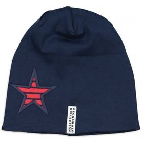 Star cap fleece, red/navy -  - geggaw1610b - 1