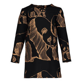 Panda Art dress, black/bronze -  - metsolaaw17b02b - 1