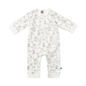 Animal bodysuit, white -  - pippiss17203b - 1