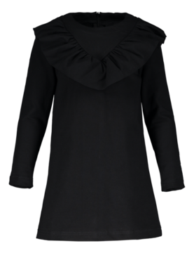 V-frilla dress, black 110/116-122/128 -  - metsaw1708b - 1