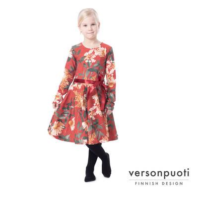 50 luvun punainen rockabilly mekko naiselle, tilaa