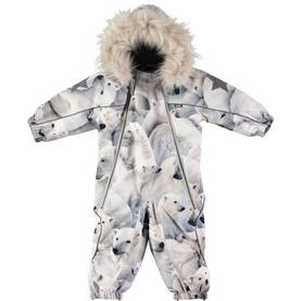 Pyxis Fur snowsuit, Polar Bear -  - 5W18N102h - 1