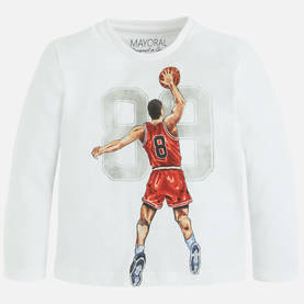 Basketball shirt, white -  - mayoral4018w - 1